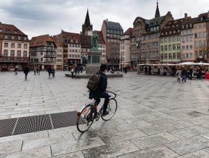 image cycliste strasbourg capitale du vélo